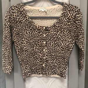 Cheetah Cropped Cartigan